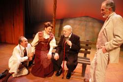 Ken Baltin, Annette Miller, William Young, and Michael Balcanoff in The Cherry Orchard, playing at the Central Square Theater through February 1, 2009.