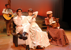 Robert Bonotto, Daniel Berger-Jones, Darcy Fowler, and Donna Sorbello in The Cherry Orchard, playing at the Central Square Theater through February 1, 2009.